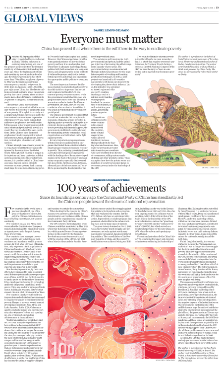 epaper.chinadaily.com.cn: 1OO years of achievements